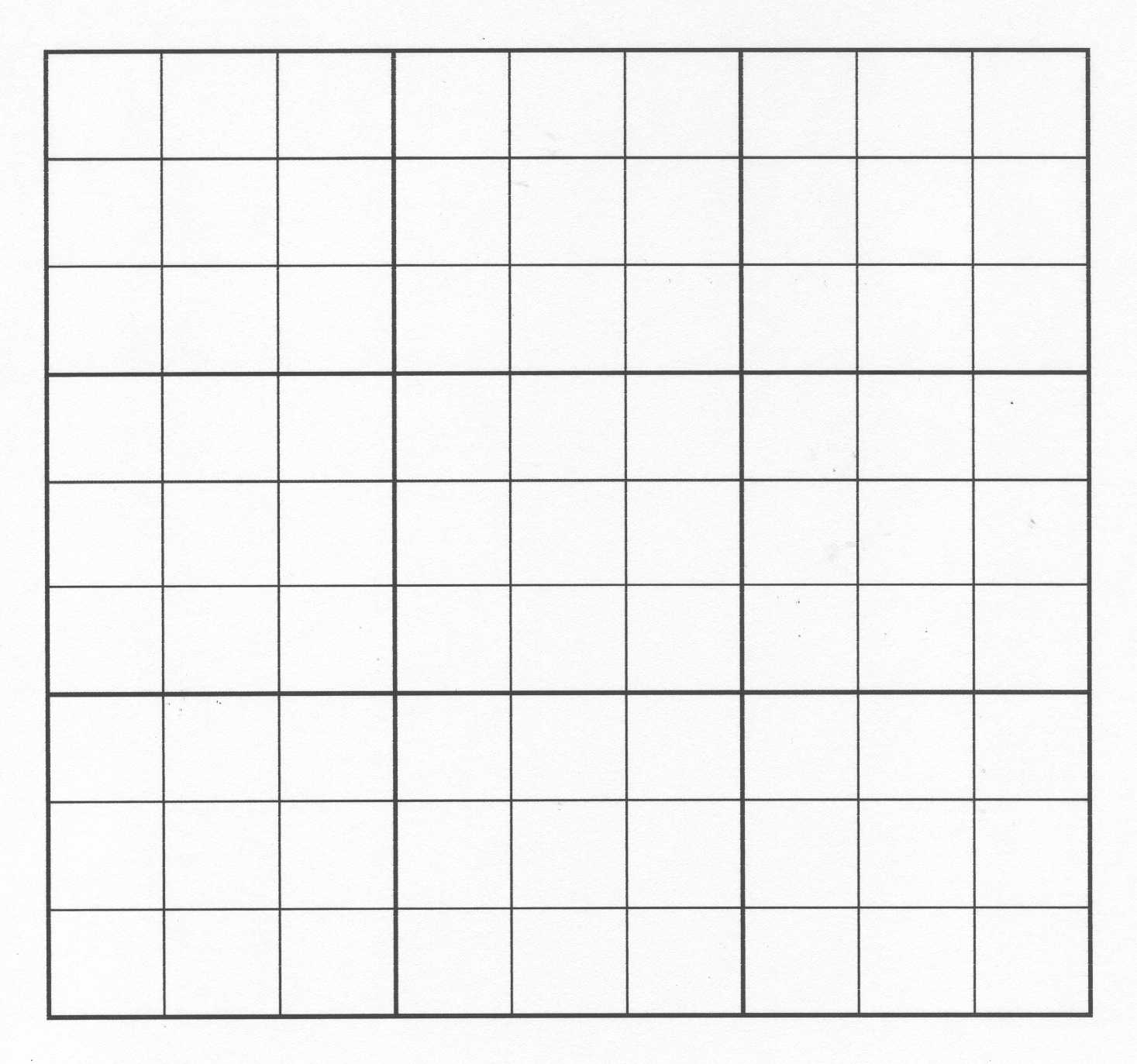 grille vierge sudoku